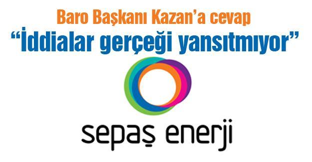 SEPAŞ Enerji iddialara yanıt verdi