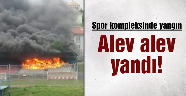 Spor kompleksinde yangın