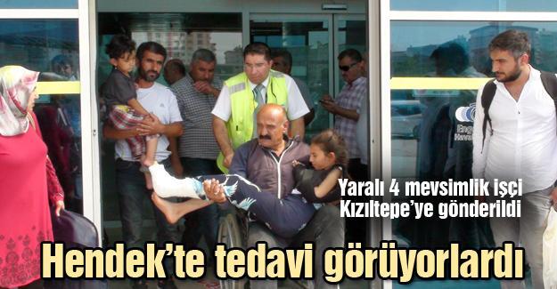 Yaralı 4 mevsimlik işçi Kızıltepe'ye gönderildi
