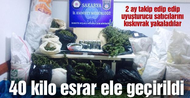 2 ay takip edip uyuşturucu satıcılarını kıskıvrak yakaladılar