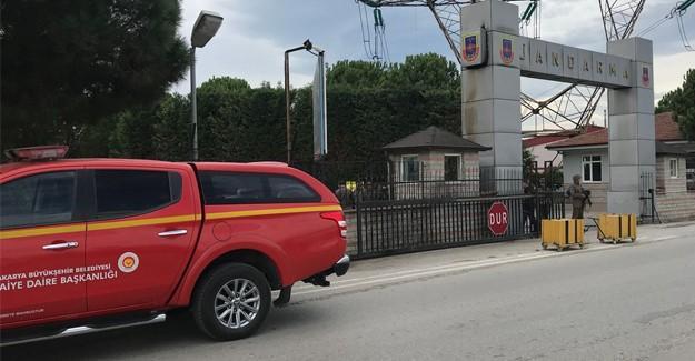 İl Jandarma'da ki yangın paniğe neden oldu