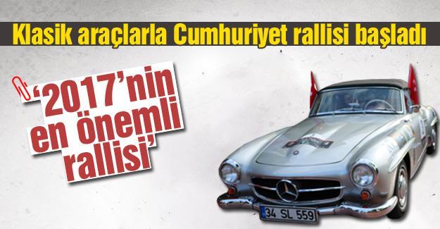 Klasik araçlarla Cumhuriyet rallisi baþladý
