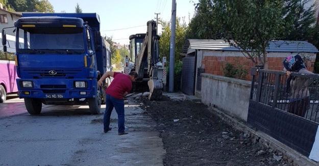 Sapanca Belediyesi Fen İşleri durmaksızın çalışıyor