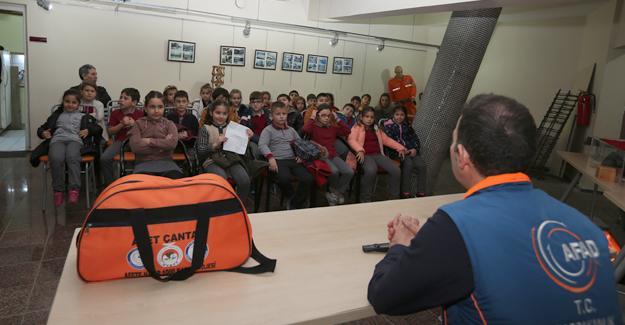 Deprem Müzesi'nde deprem bilinci eğitimi