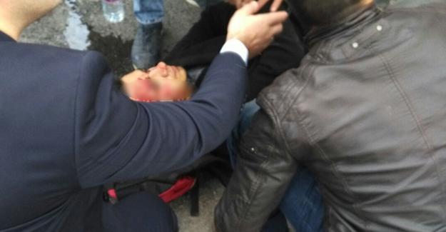 Otomobilin altında kalan  lise öğrencisi yaralandı