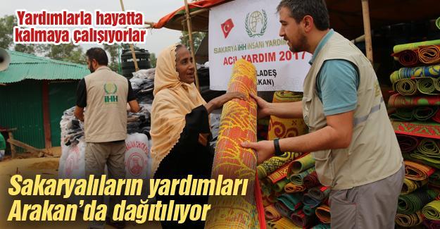 Sakaryalıların yardımları Arakan'da dağıtılıyor