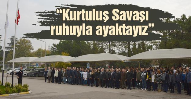 SEDAŞ çalışanları Gazi Mustafa Kemal'i andı