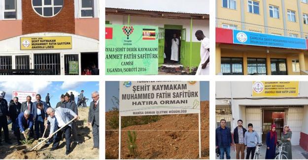 Şehit Kaymakam Safitürk'ün adı 30 ilde yaşatılıyor