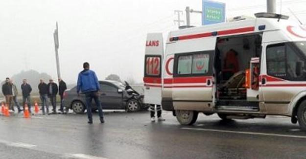 TEM'de iki araç birbirine girdi: 4 yaralı!