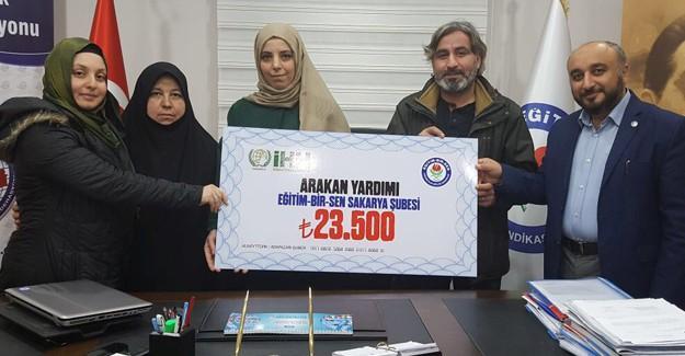 Eğitim-Bir-Sen'den Arakan'a büyük destek