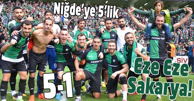 Sakaryaspor gol olup yağdı! 5-1