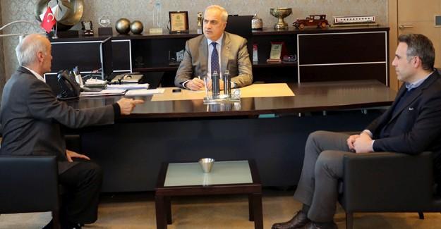 Başkan Sunman'dan, Başkan Kösemusul'a ziyaret