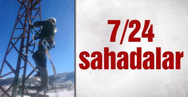 SEDAŞ'ın yağan karda başarılı mücadelesi