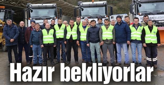 Serdivan Belediyesi kar hazırlıklarını tamamladı