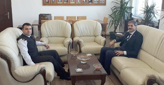 Başkan Alemdar İl Jandarma Komutanı Yiğit'e misafir oldu