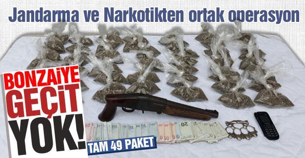 Jandarma ve Narkotikten orta operasyon