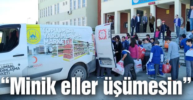 Aykut Yiğit Ortaokulu öğrencileri iyilikte yarıştı