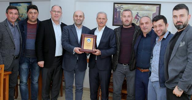 Levent Tunç'a Başkan Dişli'den teşekkür