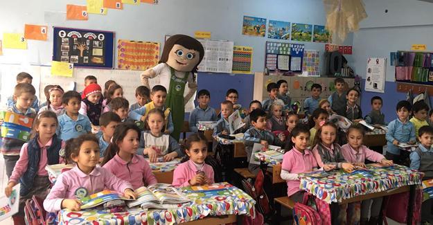 Minik öğrenciler Tomurcukla tanıştı