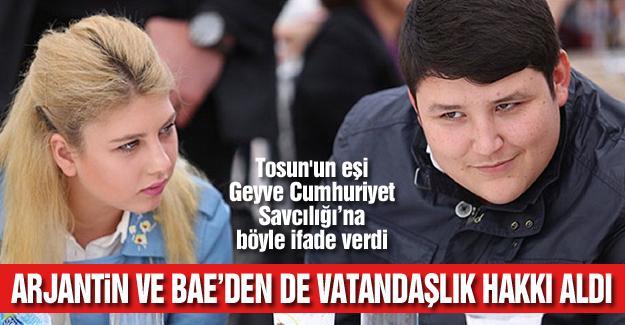 Tosun'un eşi Geyve Cumhuriyet Savcılığı'na böyle ifade verdi