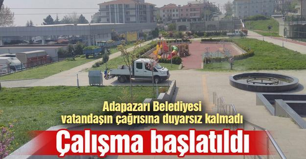 Adapazarı Belediyesi vatandaşın çağrısına duyarsız kalmadı