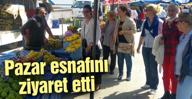 Asena Aslan Burak'tan esnaf ziyareti