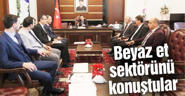 Vali Balkanlıoğlu sektör temsilcileriyle bir araya geldi