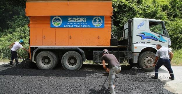 7 ilçede 15 bin 300 ton sıcak asfalt