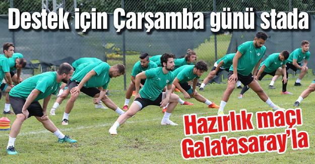 Hazırlık maçı Galatasaray'la