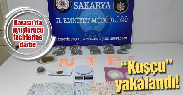 Karasu'da uyuşturucu tacirlerine darbe
