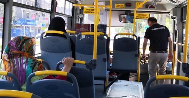 Otobüslere klima ve temizlik denetimi