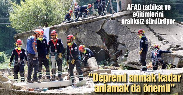 AFAD tatbikat ve eğitimlerini aralıksız sürdürüyor