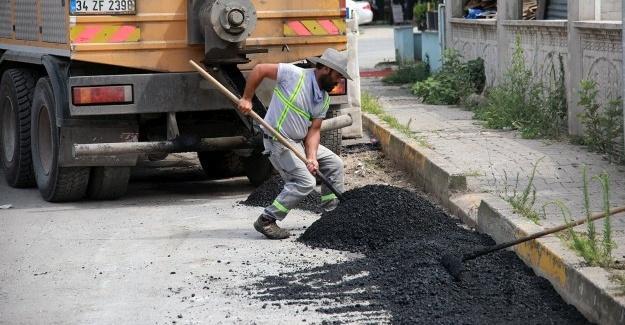 Kuzuluk'ta sıcak asfalt serimi başladı