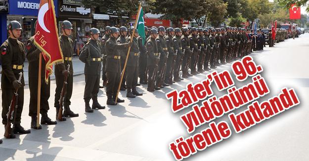 Zafer'in 96. yıldönümü törenle kutlandı