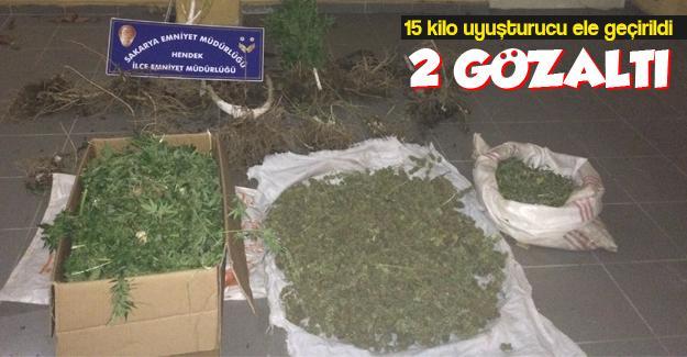15 kilo uyuşturucu ele geçirildi