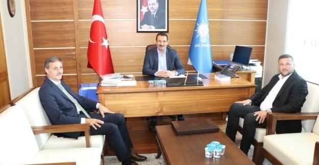 Başkan Alemdar'dan AK Parti Genel Merkezi'ne ziyaret