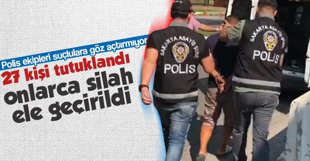 Polis ekipleri suçlulara göz açtırmıyor