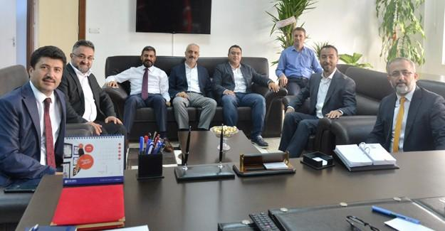 Rektör Savaşhan'dan, Rektör Sarıbıyık'a ziyaret