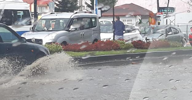 Şiddetli yağış kazaya neden oldu