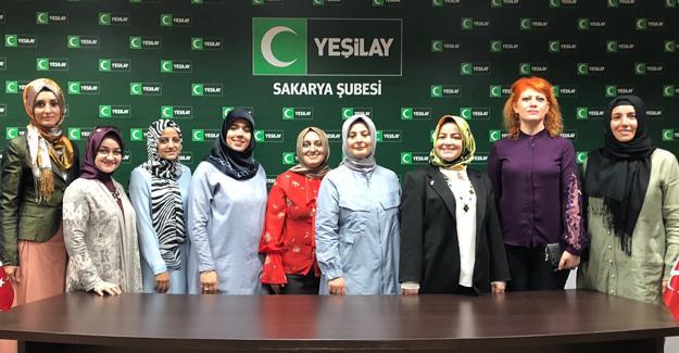 Yeşilay Sakarya Şubesi Kadın Komisyonundan tanışma toplantısı