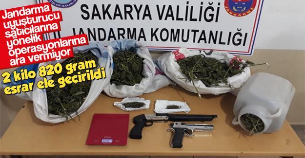 Jandarma uyuşturucuyla mücadeleye ara vermiyor