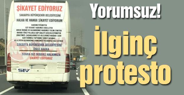 Yorumsuz! İlginç protesto