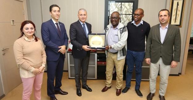 Zambiya TSO Başkanı'ndan SATSO'ya Ziyaret