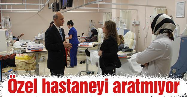 Geyve Devlet Hastanesinde özel hastane konforu