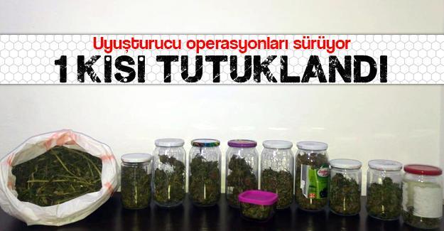 Uyuşturucu operasyonları sürüyor