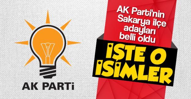 AK Parti'nin Sakarya ilçe adayları belli oldu