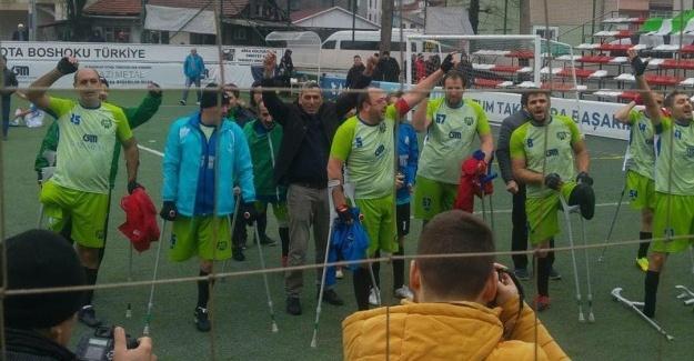 Sakarya Ampute Futbol Takımından bir galibiyet daha