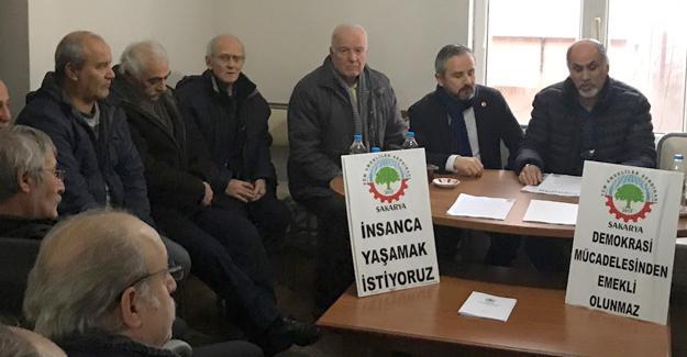 Zafer Kazan'dan Tüm Emekliler Sendikasına ziyaret