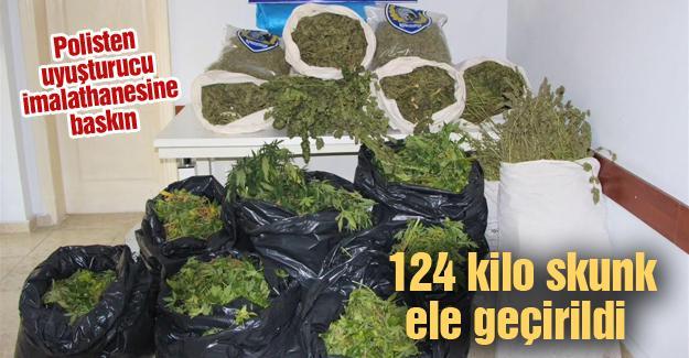 124 kilo skunk maddesi ele geçirildi
