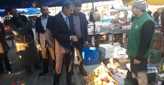 Yusuf Alemdar'dan pazaryeri esnafına ziyaret